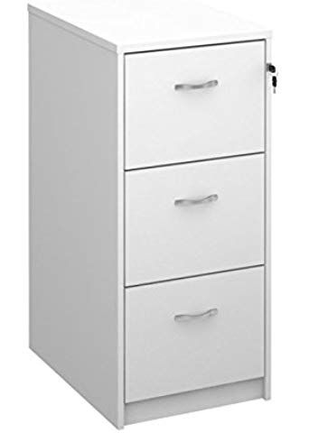 Deluxe 3 Drawer Wood Filing Cabinet In Beech Maple Oak White Or