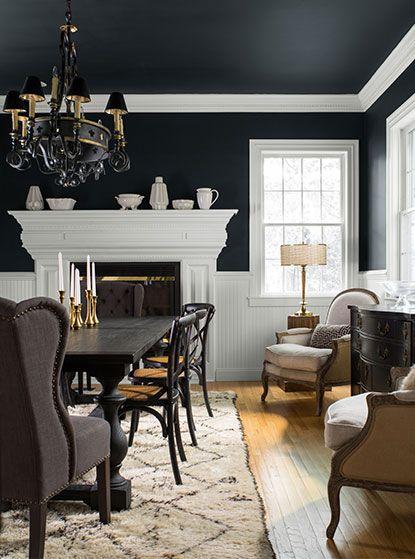 Black Paint Ideas Benjamin Moore Black Dining Room Black Living Room Living Room Paint