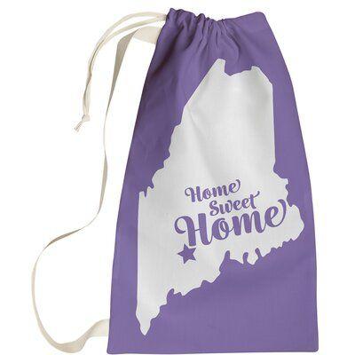 East Urban Home Home Sweet Augusta Me Laundry Bag Bags Sweet