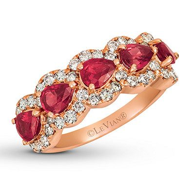 Created Ruby Heart Ring 1.10 ctw w// Diamonds in S.Silver with Yellow Plating