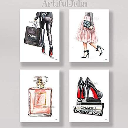 Artifuljulia Amazon Com Fashion Wall Art Wall Art Prints Original Watercolor Painting