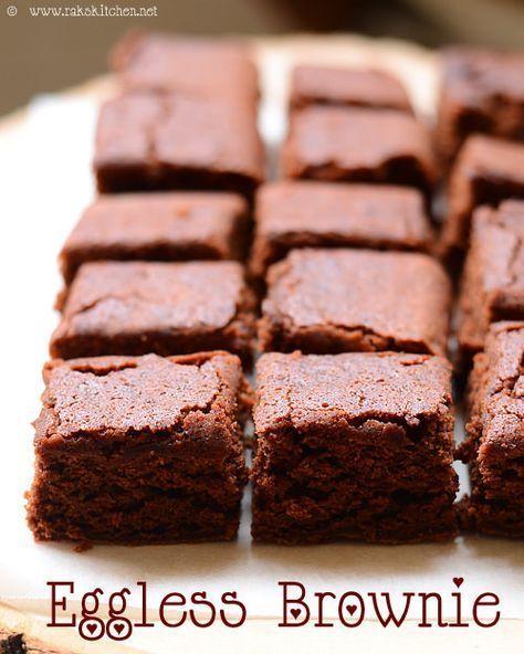 Eggless Brownie Recipe Eggless Brownies Raks Kitchen Recipe Eggless Brownie Recipe Brownie Recipes Eggless Baking