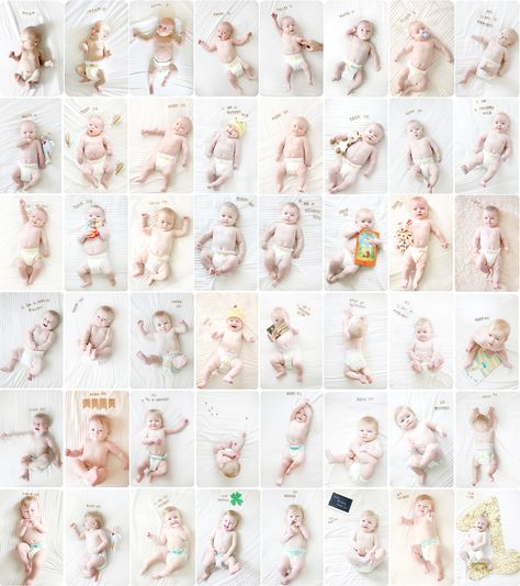 Une photo par semaine de bébé