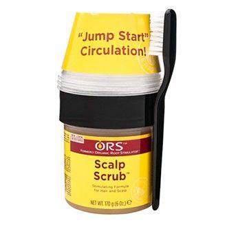"""Scalp Scrub - Organic Root Stimulator. Traitement exfoliant du cuir chevelu, kit de traitement stimulant pour encourager la pousse des cheveux. Il tonifie et exfolie le cuir chevelu tout en stimulant la circulation, ce qui augmente l'apport d'oxygène et de compensation des follicules pileux. Il s'agit d'une """"séance d'entraînement aérobic"""" pour les follicules pileux et le cuir chevelu."""