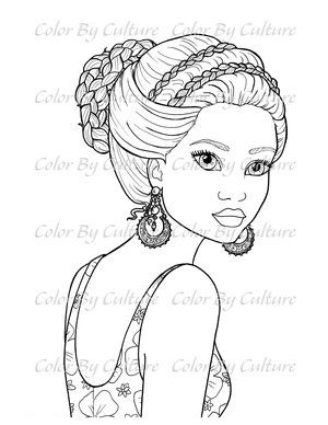 Pretty Portraits Set Of 5 Color By Culture Detailed Coloring Pages Coloring Pages Inspirational Bird Coloring Pages