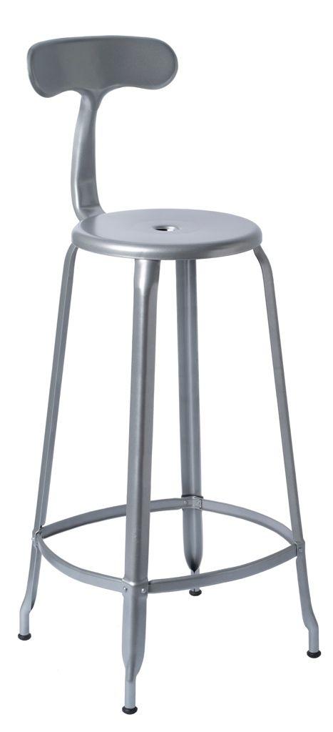 NICOLLE® acier Gris cm haute métal H80 en Chaise métallisé v80OmnNw