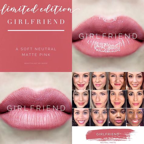 Limited Edition Girlfriend LipSense is a must have! A beautiful soft neutral matte pink. Girlfriend LipSense selfies, girlfriend selfie. Perpetual Pucker lips. Great for your girlfriend, girlfriends, or even yourself for a Valentine's Day gift
