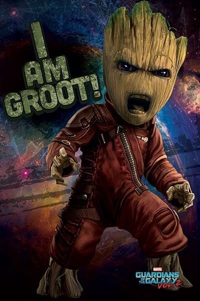 16 24 Aud Guardians Of The Galaxy Vol 2 Poster 61x91cm I Am