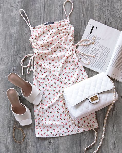 Well Deserved White Floral Dress
