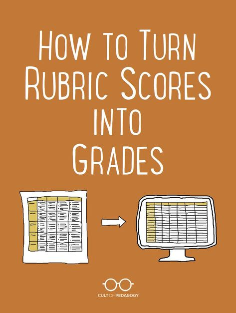 How to Turn Rubric Scores into Grades | Cult of Pedagogy