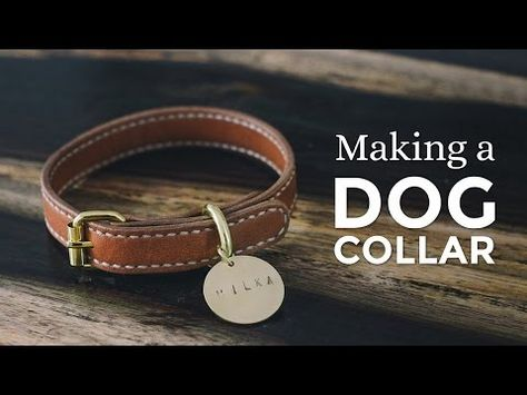 Making A Leather Dog Collar Week 1 52 Diy Leather Dog Collar Leather Diy Dog Collar