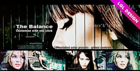 The Balancehttp://bit.ly/1ei61hY  The Balance. Dynamic after effects opener (AE CS5.0 Full HD) with great effects, global controls for an easy and quick customization process with one click, 16 media and 20 texts placeholders. Duration: 1 minute 06 seconds. Create in minutes an amazing video show: corporate use, personal use, Youtube Chanel…. No plug-in required. Fast and easy customization, pdf help file included, free font link included, music link included, global controls examples included…