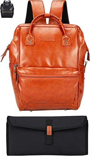 10 Vegan Diaper Bag Options That Are Stylish And Useful From Faux Leather 2020 Diaper Bag Baby Backpack Diaper Bag Diaper Bag Backpack