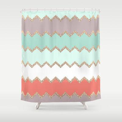 AVALON CORAL Shower Curtain by Monika Strigel - $68.00
