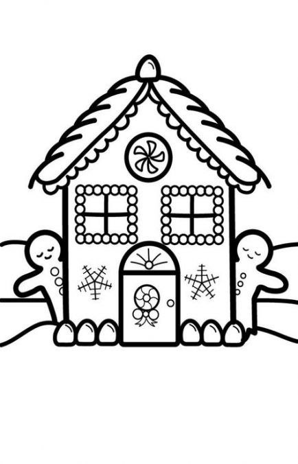 Christmas House Drawing.61 Ideas Drawing Christmas House House Drawing