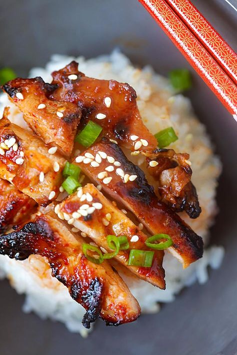Spicy Korean Chicken - amazing and super yummy chicken with spicy Korean marinade. So easy to make, cheaper, and better than takeout   rasamalaysia.com