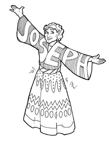 Joseph Coat Of Many Colors Coloring Page Bible Coloring Pages Bible Coloring Coat Of Many Colors