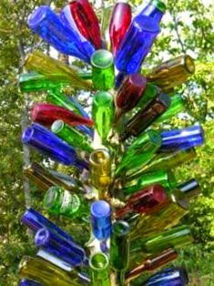 9 best bottle trees images on pinterest wine bottle crafts projects and glass