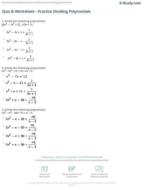 Multiplying Polynomials Worksheet Answers Free Download Polynomials Practice Worksheets With Answers In 2020 Polynomials Word Problem Worksheets Worksheet Template