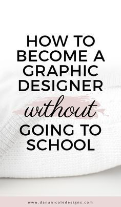 Learn how to become a graphic designer without going to school. I taught myself graphic design on my own and am now a freelance designer - all without going to school and paying costly tuition!
