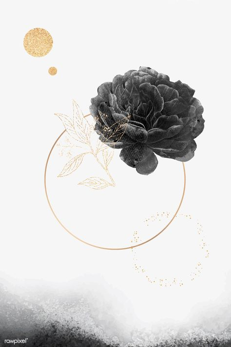 Blank golden round frame vector | premium image by rawpixel.com #vector #vectoart #digitalpainting #digitalartist #garphicdesign #sketch #digitaldrawing #doodle #illustrator #digitalillustration #modernart #frame #rose #flower
