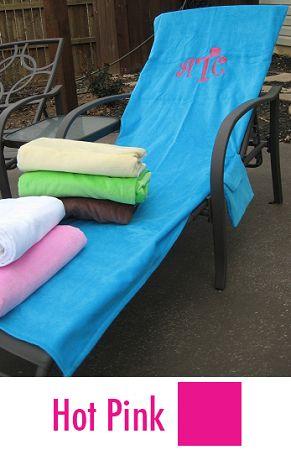 Terrific Monogrammed Lounge Chair Cover Beach Lounger Towel Alphanode Cool Chair Designs And Ideas Alphanodeonline