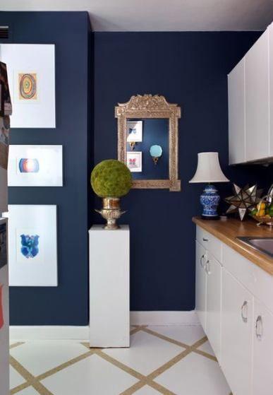 35 Ideas Kitchen Dark Blue Interiors Blue Kitchen Decor Blue Painted Walls Blue Paint Colors