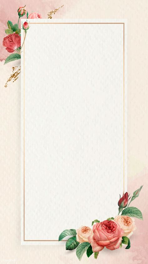 Blomster ramme navmeskilt - TenStickers