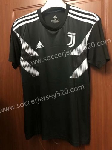 the best attitude b0f89 e2b44 2018-19 Juventus Black Thailand Soccer Training Jersey ...