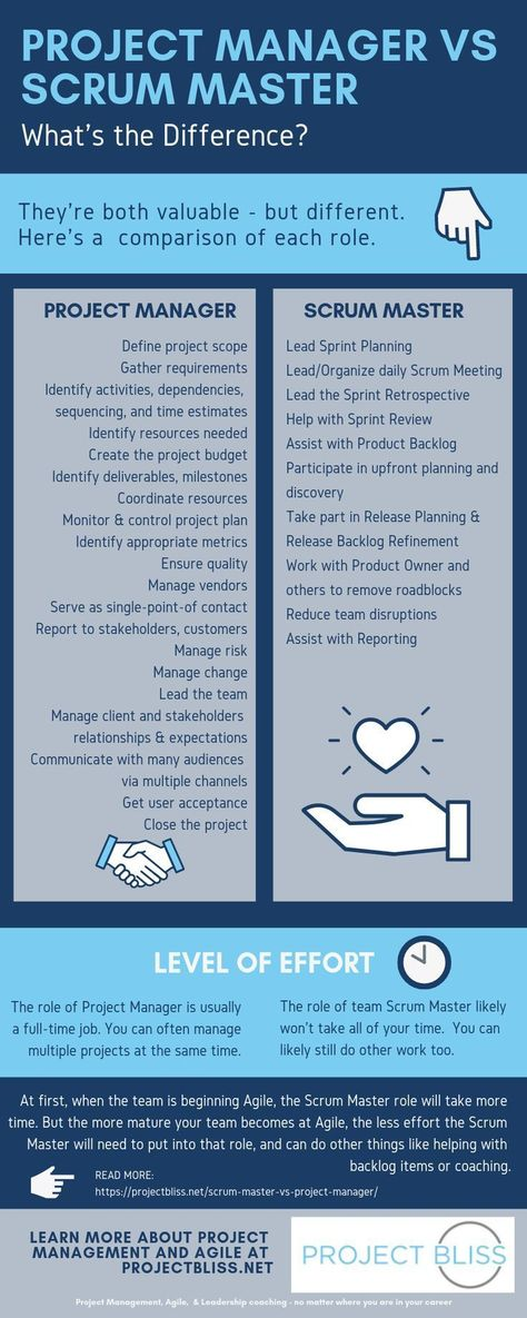 Scrum Master vs Project Manager: What's the Difference? - Project Bliss