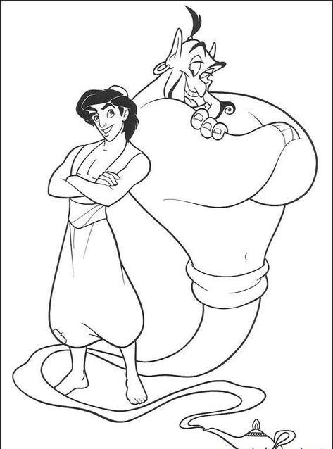 Alaaddin Boyama Sayfalari Alaaddin Boyama Sayfalari Disney