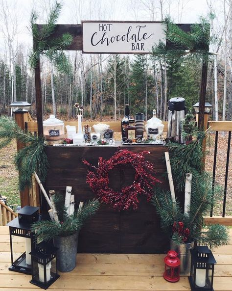 This hot chocolate bar is a cozy addition to any winter wedding. Get this and more magical winter wonderland wedding ideas. This hot chocolate bar is a cozy addition to any winter wedding. Get this and more magical winter wonderland wedding ideas. Winter Wedding Decorations, Wedding Themes, Table Decorations, Winter Weddings, Beach Weddings, Wedding Events, Wedding Reception, Wedding Coordinator, Bar At Wedding
