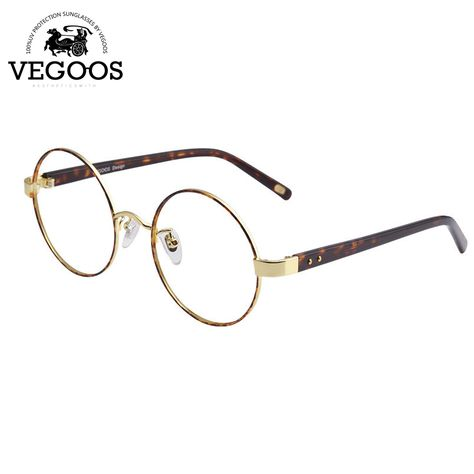 Vegoos Eye Glasses Metal Retro Round Frame Unisex Eyeglasses