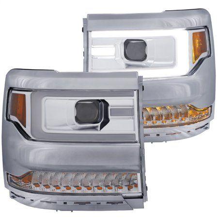 Anzo 16+ Chevy Silverado 1500 Projector Headlights Plank Style