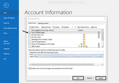 How To Set An Out Of Office Message In Outlook How To Out Of Office Message Online Marketing Strategy Social Media Online Marketing Strategies