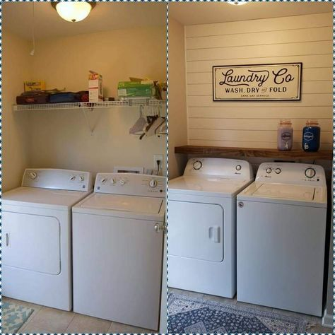 Basement Laundry Room Ideas – Whether a big or a small house, there must be an extra room for some homeowners. Moreover, a basement often becomes a room to store good stuff or even left empty. Small Laundry Rooms, Laundry Room Design, Laundry In Bathroom, Washroom, Laundy Room, Laundry Room Organization, Laundry Closet Makeover, Laundry Room Shelves, Laundry Room Makeovers