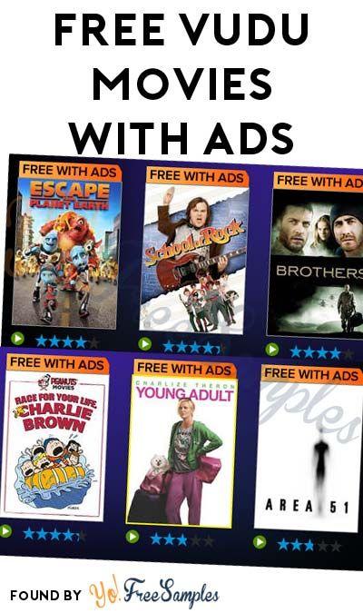 Free Vudu Movies With Ads Yo Free Samples Vudu Movies Freebies Free