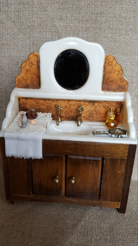 Moniature sink 1:12 scale. Shabby chic style by ...