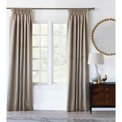 Eastern Accents Halo Solid Abstract Room Darkening Thermal Pinch Pleat Single Curtain Panel Perigold In 2020 Panel Curtains Home Interior Accessories Unique Curtains