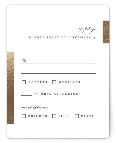 Gallant Foil Pressed Rsvp Cardsp Cards In 2021 Chic Wedding Invitations Rsvp Card Rsvp