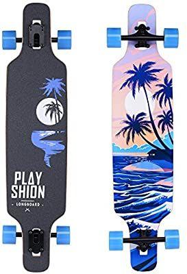 Longboard Skateboard 42 inch Drop Through Deck Complete Maple Cruiser Sea wave