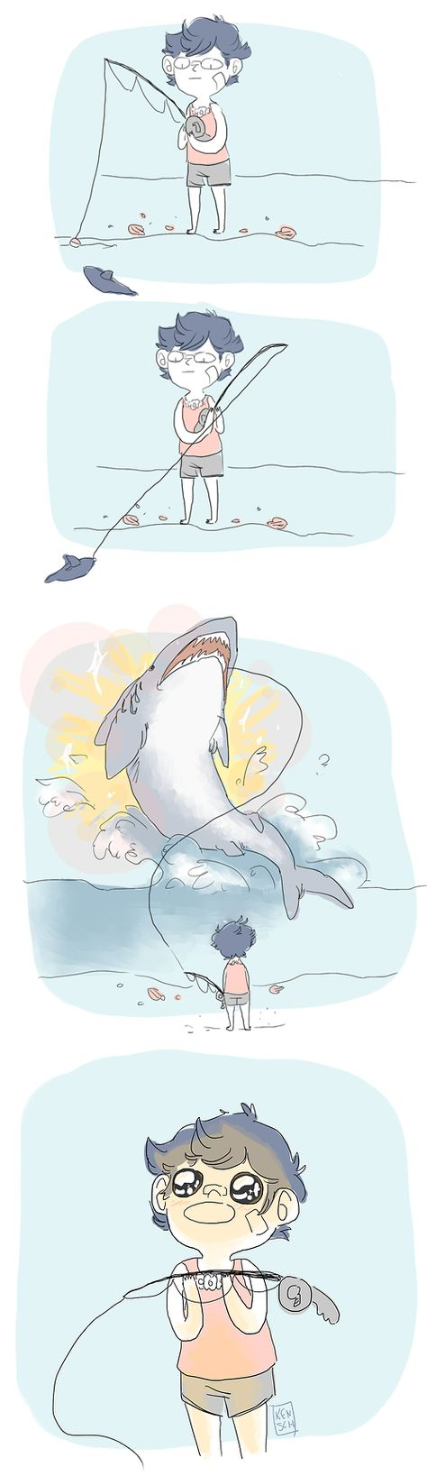 This surprised me too, when I 1st caught my very own shark! Lol I was so excited