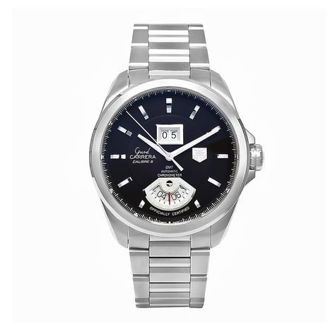Tag Heuer Men's Grand Steel Watch, Blue Size: One Size Fits All