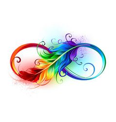 Infinity symbol with rainbow feather vector - Infinity symbol with rainbow feather vector - Peacock Feather Tattoo, Feather Vector, Feather Tattoo Design, Feather Art, Watercolor Feather Tattoos, Phoenix Feather Tattoos, Feather Drawing, Tattoos Skull, Love Tattoos
