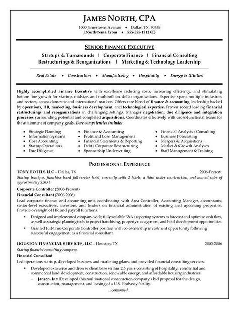 Financial Consultant Resume Examples Hr Resume Resume