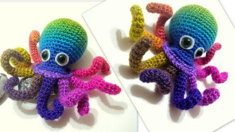 Amigurumi Octopus Mohu : ótima ideia para um porta lápis ! : crochet pinterest