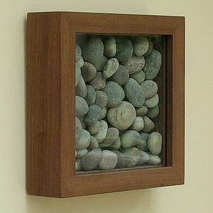 What a great way to make cute earthy art or maybe display my rock collection. Bathroom trio?