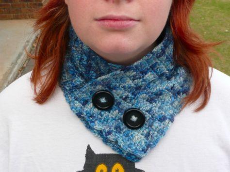 Blueberry Dreams Neckwarmer free #crochet pattern