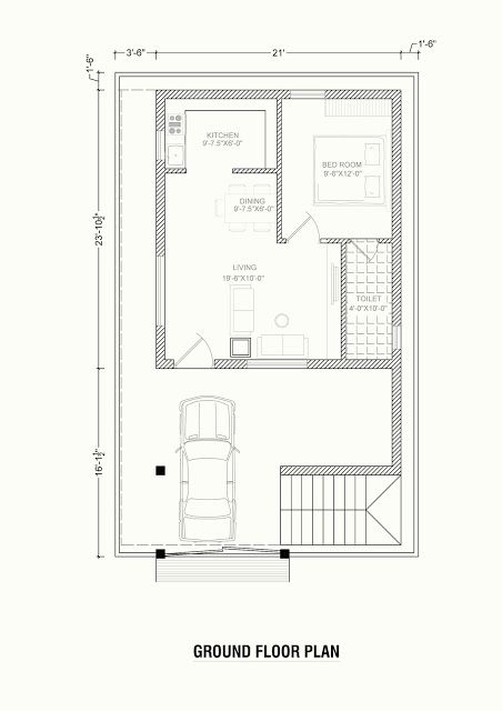 North Face Plan For House 30x40 Feet Area Home Designs Interior Decoration Ideas 30x40 House Plans House Plans North Facing House
