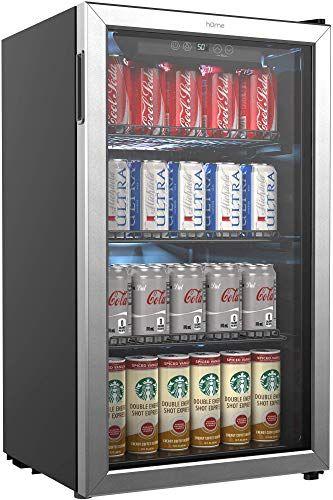 New Homelabs Beverage Refrigerator Cooler 120 Can Mini Fridge Glass Door Soda Beer Wine Small Drink Dispenser Machine Office Bar Adjustable Removable In 2020 Beverage Fridge Beverage Refrigerator Refrigerator Cooler
